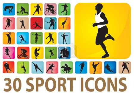 Illustration for Sport icons. Vector set for you design - Royalty Free Image