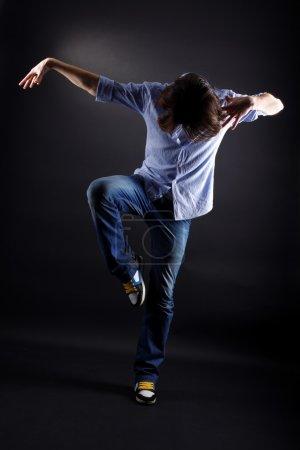 Young man modern dancer