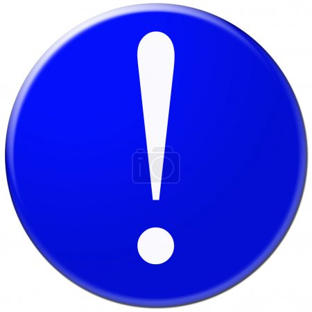 Warning attention sign with exclamation mark