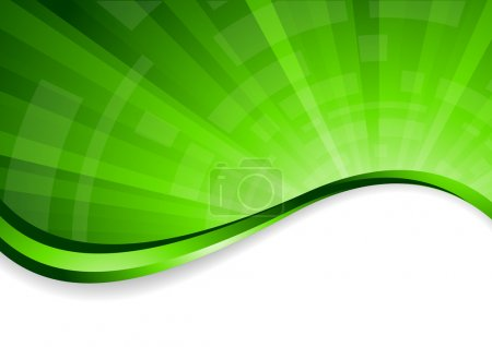 Vector bright green background
