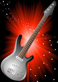 Vector background with guitar