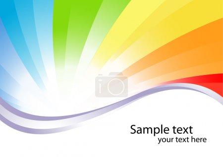 Illustration pour Fond vectoriel coloré ; clip-art - image libre de droit