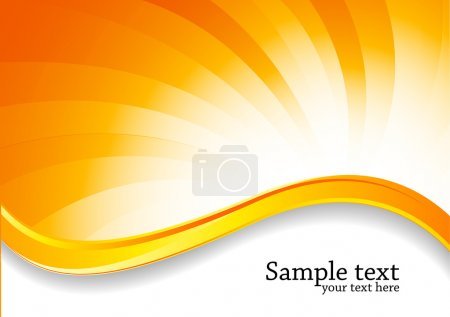 Illustration for Abstract swirl bright background in orange color - Royalty Free Image