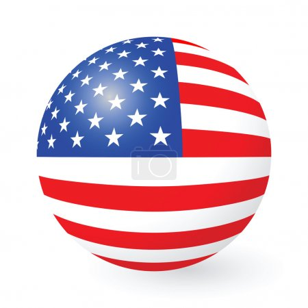 Stars and Stripes button and sticker