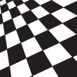 A large black and white checker floor background p...