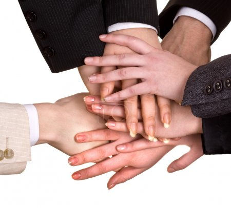 Photo for Group of business hand. Isolated. - Royalty Free Image