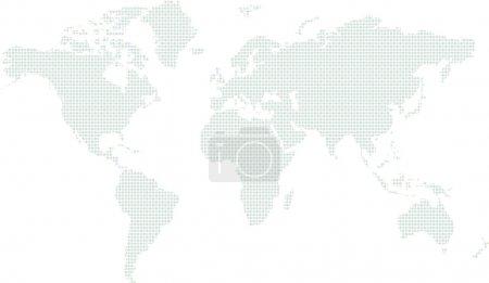 Illustration pour Un regard abstrait illustré sur le monde dans différentes nuances de cercles bleus et verts - image libre de droit