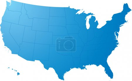 Us map plain