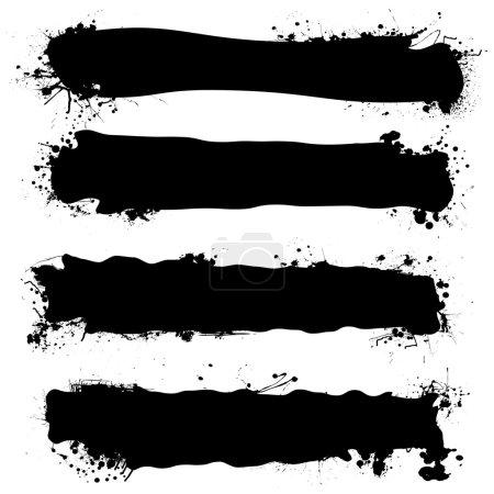 Black ink banner