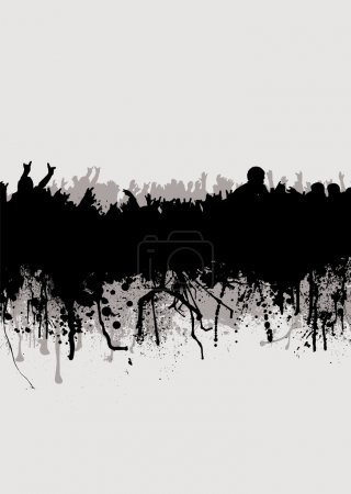 Photo for Grunge inspired crowd background in gray and black - Royalty Free Image