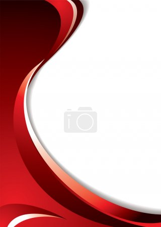 Photo for Shades of red background with flowing lines and room to add your text - Royalty Free Image