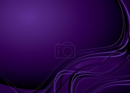 Illustration for Mauve purple background with flowing lines and copy space - Royalty Free Image