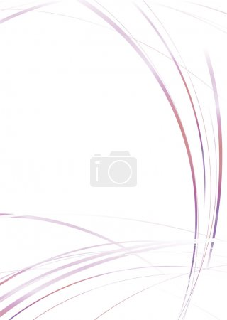 Photo for Sparse abstract modern image with flowing lines and copyspace - Royalty Free Image