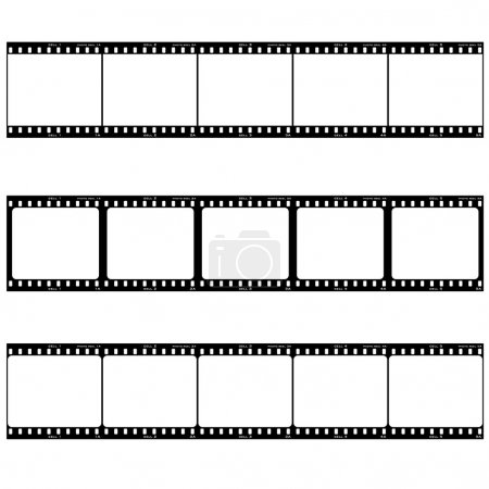 Photo for Strip of three reels with room to add your own image - Royalty Free Image