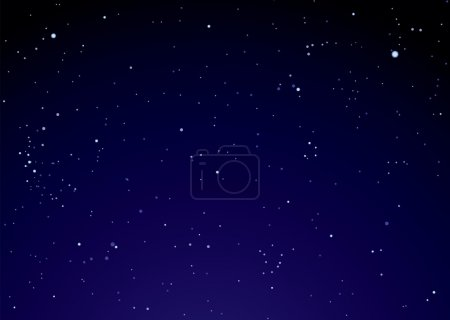 Illustration for Dark nights sky with bright stars ideal background - Royalty Free Image