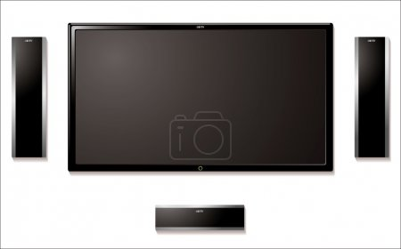 Lcd television with speakers