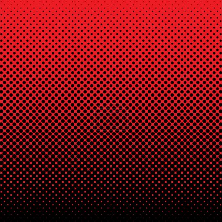 Illustration for Red and black abstract halftone dot background ideal wallpaper - Royalty Free Image