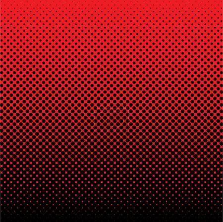 Illustration pour Rouge et noir abstrait demi-teinte fond idéal fond d'écran - image libre de droit