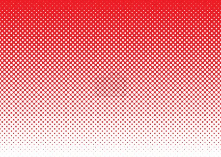 Illustration pour Fond rouge avec blanc demi-ton point concept de dégradé - image libre de droit
