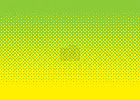 Photo for Abstract halftone green and yellow background image with circular pattern - Royalty Free Image