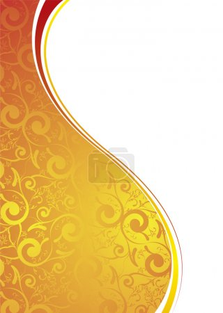 Golden transparent