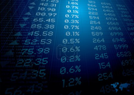 Photo for Stock market figures on a background ideal for reports or finance - Royalty Free Image