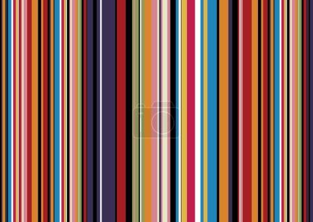 Illustration pour Fond abstrait aux couleurs vives avec des rayures couleur bonbons - image libre de droit