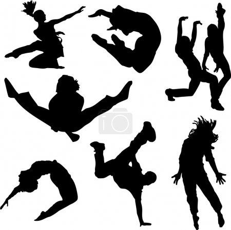 Photo for A collection of dancing in silhouette - Royalty Free Image