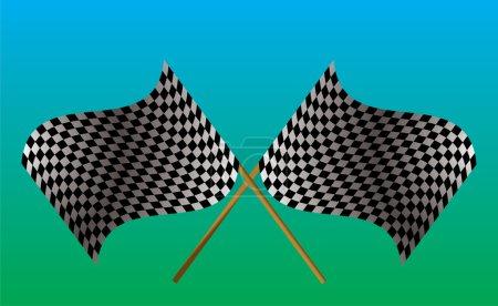 Crossed checkered flag