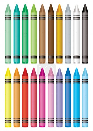 Crayon selection
