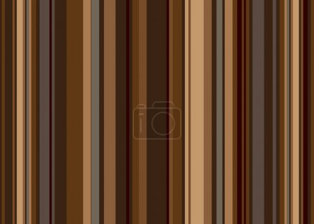 Illustration for Retro style vertical stripped background in shades of brown - Royalty Free Image