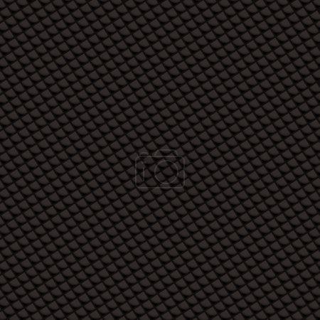 Illustration pour Tissage abstrait en fibre de carbone tissé avec des formes de diamant noir - image libre de droit