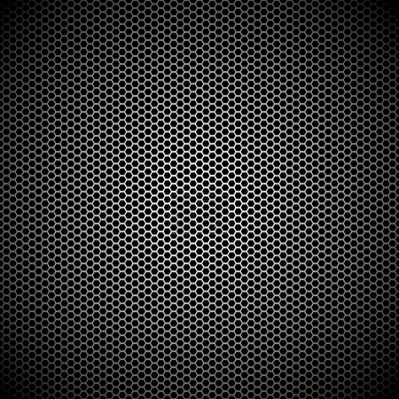 Illustration for Hexagon metal background with light reflection ideal wallpaper - Royalty Free Image