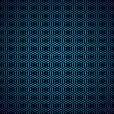 Blue hexagon metal background