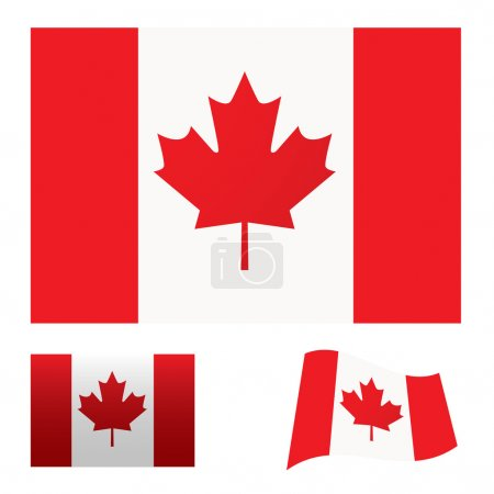 Photo for Illustrated collection of flag icon set for canada - Royalty Free Image