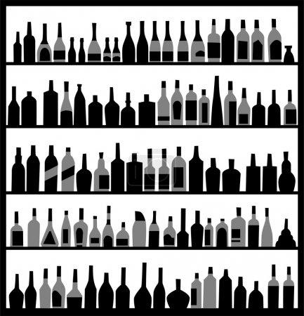 Silhouette alcohol bottles