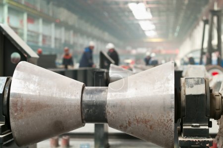 Pipe welding and rolling mill