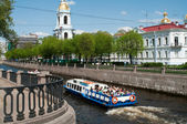 Sightseeing of Saint-Petersburg city, Russia.