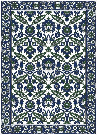 Illustration for Persian detailed vector carpet - Royalty Free Image