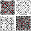 Set of celtic design elements...