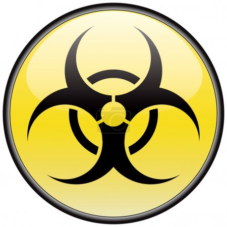 Biohazard vector round hazardous sign