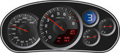 Vector realistic sport car's dashboard