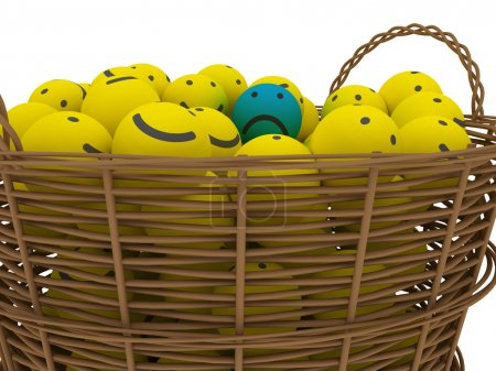 Basket with smileys