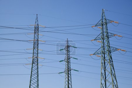 Photo for High Voltage Lines in a Power Station - Royalty Free Image