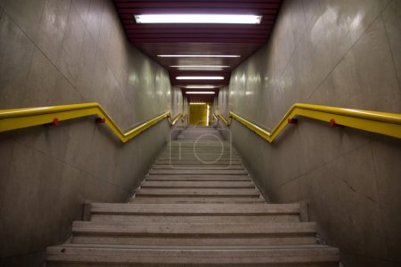 Subway station staircase