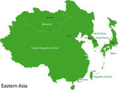 Východní Asie mapa