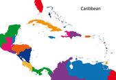 Caribbean map