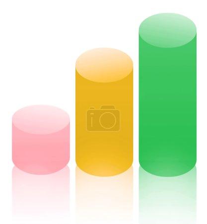 Photo pour Cylindres colorés, isolés - image libre de droit