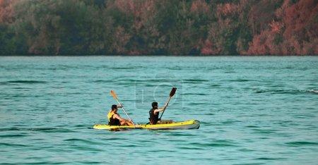Landscape with kayak