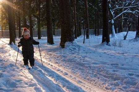 Little Boy Cross Country Skiing